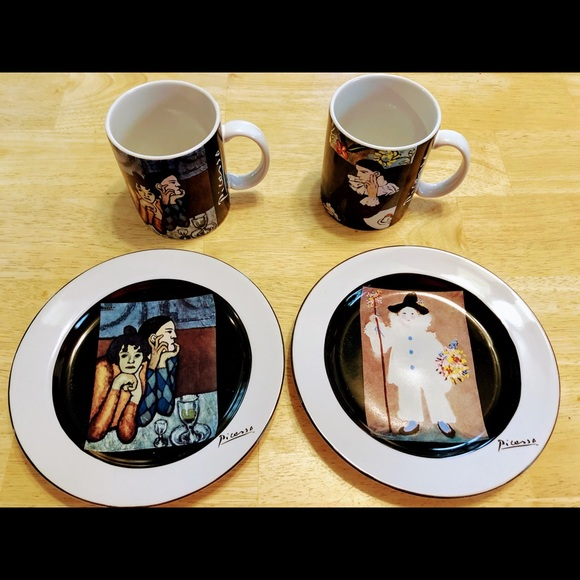 Vintage Picasso Plates and Mugs